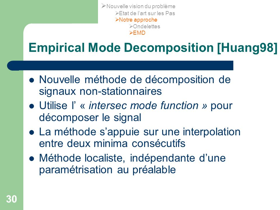 Empirical Mode Decomposition [Huang98]